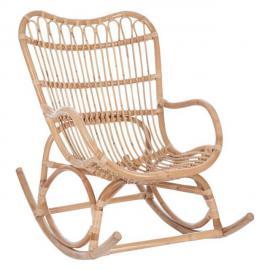 Tousmesmeubles Rocking Chair Rotin naturel - Ricky - L 110 x l 66 x H 93