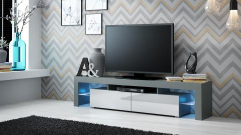 Milano 200 - gris intérieur meuble tv