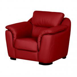 Fauteuil Alzira - Cuir véritable Rouge, Nuovoform