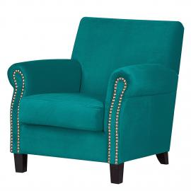 Fauteuil Bardi - Microfibre turquoise, Jack and Alice