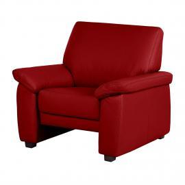 Fauteuil Grimsby - Cuir véritable rouge, Nuovoform