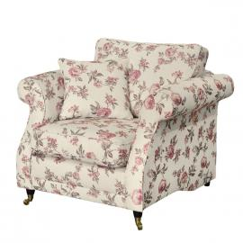 Fauteuil Rosehearty - Tissu - Crème / Rose, Maison Belfort