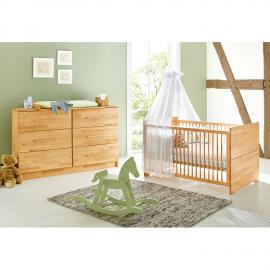 Ensemble de chambre de bébé Natura Kids (2 éléments) - Hêtre massif, Pinolino