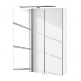 EEK A+, Armoire avec miroir Genf III (avec éclairage) - Blanc brillant, Schildmeyer