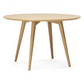 Alterego Table à dîner ronde 'SWEDY' en bois style scandinave - � 120 cm