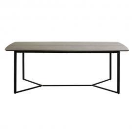 Table à manger 6/8 personnes noire L210 Opal