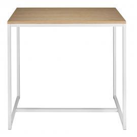 Table à manger haute en métal blanc 4/6 personnes L120 Igloo