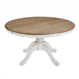 Table à manger ronde extensible 6 à 8 personnes L140/190 Provence