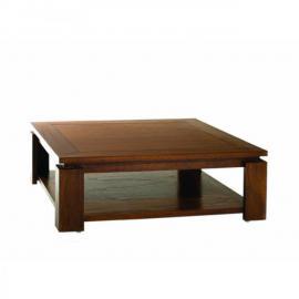 Inside 75 Table basse 90 x 90 cm Lauren style colonial en mindi
