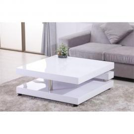 CHLOE DESIGN Table basse design OLNEE - blanc