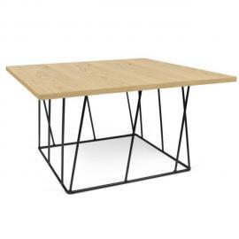 Inside 75 Tema Home Table basse carrée Helix 75 chêne structure laquée noire