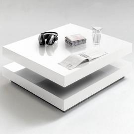 Inside 75 Table basse design Hubic blanche mate