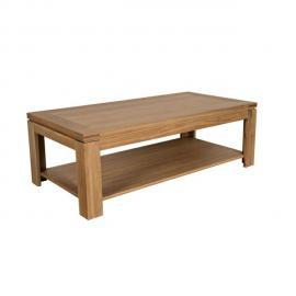 HELLIN Table basse moderne BOSTON - bois chêne clair massif