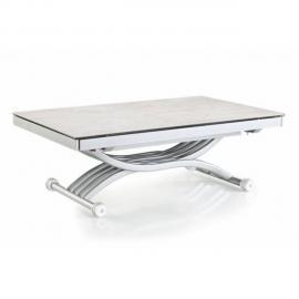 Inside 75 Table basse Newform relevable extensible, plateau en céramique collé sur verre