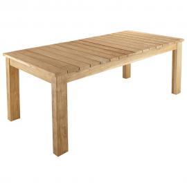 Table de jardin en teck recyclé L 220 cm Guerande