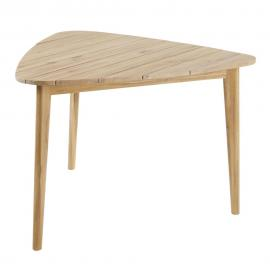 Table de jardin triangulaire en acacia massif 3 personnes L110 Massilia