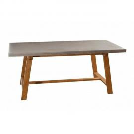 Inside 75 Table repas béton Nino 180 x 90 cm en chêne style industriel