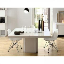 Inside 75 TemaHome table repas Dusk 150 x 150 cm blanche brillante