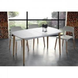 Inside 75 Table repas extensible Olaf 135 185/83 cm blanche