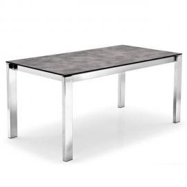 Inside 75 Table repas extensible Baron 110x70cm en céramique effet béton piétement satiné