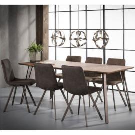Inside 75 Table repas 8 couverts Odis 160cm chêne brun