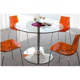 Inside 75 Table repas ronde Planet en verre