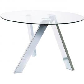 Karedesign Table ronde en verre Mikado 120cm Kare Design