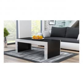 Dusine Grande table basse Spider Noir mat avec bordures blanc laquées