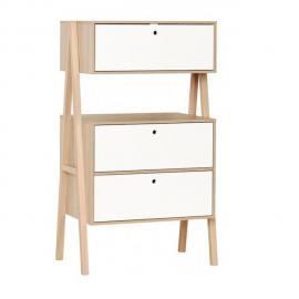 Vox Commode 3 tiroirs Spot - Blanc