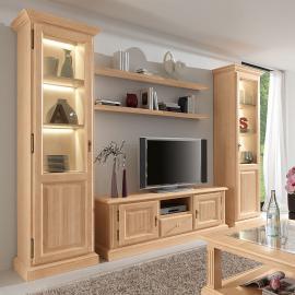 EEK A+, Ensemble de meubles TV Breddin (5 éléments) - Pin massif - Avec éclairage, Ars Natura