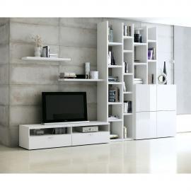Ensemble de meubles TV Emporior i - Blanc brillant, Fredriks