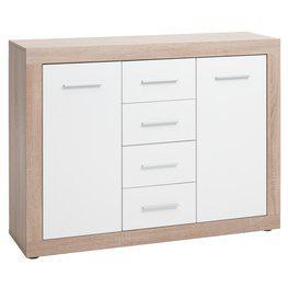JYSK Dressoir FAVRBO 2 deurs eik/wit