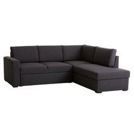 JYSK Slaapbank m/chaise longue BEDSTED grijs