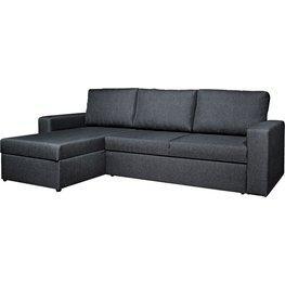 JYSK Slaapbank m/chaise longue VILS d.grijs