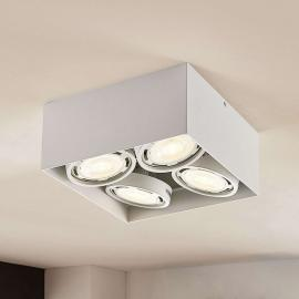 LED downlight Rosalie dimbaar hoekig 4-lamps wit