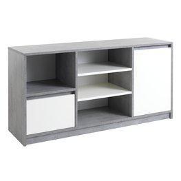 JYSK Dressoir BILLUND 2 deuren wit/betonlook