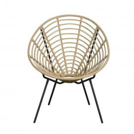 Lisomme Rotan fauteuil - Dax- fauteuils - tuinstoel - Rattan Dall - lounge stoel - modern design - terrasstoel