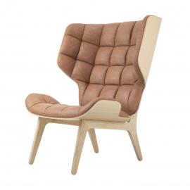Norr11 Mammoth Chair - Fauteuil - Leer- Hout - Retro - Vintage - Leather - Leren - Design - Lounge stoel - Scandinavisch