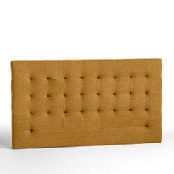 Cabecera de cama capitonada de lino lavado, Selve H100 cm
