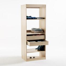 Módulo de armario con 3 estanterías y 2 cajones Build