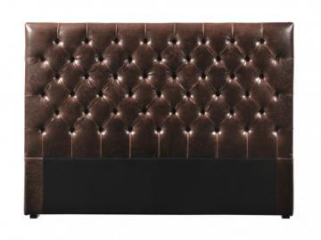 Cabecero de cama 160 cm AURELE - Piel envejecida