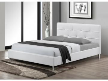 Estructura de cama GABIN - 140x190 cm - Piel sintética - Blanco