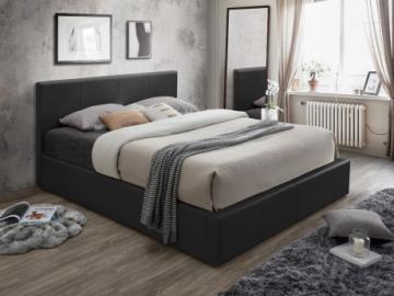 Cama con canapé abatible TREMPLIN - Negro - 160x200 cm
