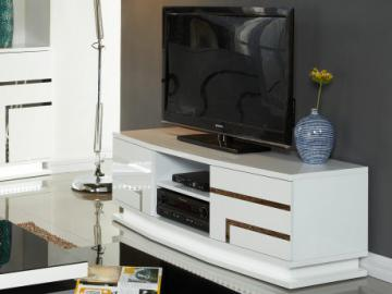 Mueble TV LUMINESCENCE IV - MDF lacado blanco y LEDs