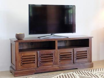 Mueble TV BALI  4 puertas y 2 huecos  Teca maciza