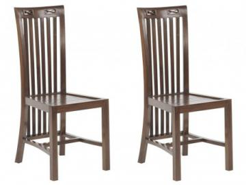 Conjunto de 2 sillas JAKARTA II - Teca maciza
