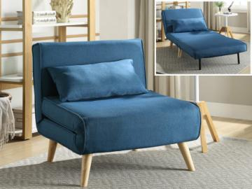 Sillón cama POSIO de tela - Azul