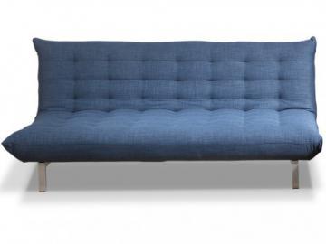 Sofá cama clic-clac 3 plazas de tela HORNET - Azul