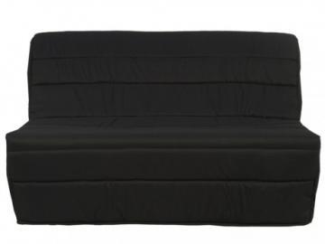Sofá cama acordeón de tela COWBOY - Negro