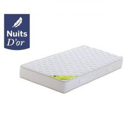Nuits D'OR Nuit Matelas 140x200 Densité 35 Kg/m3 - Hauteur 21 Cm - Soutien Souple - Orthopédique